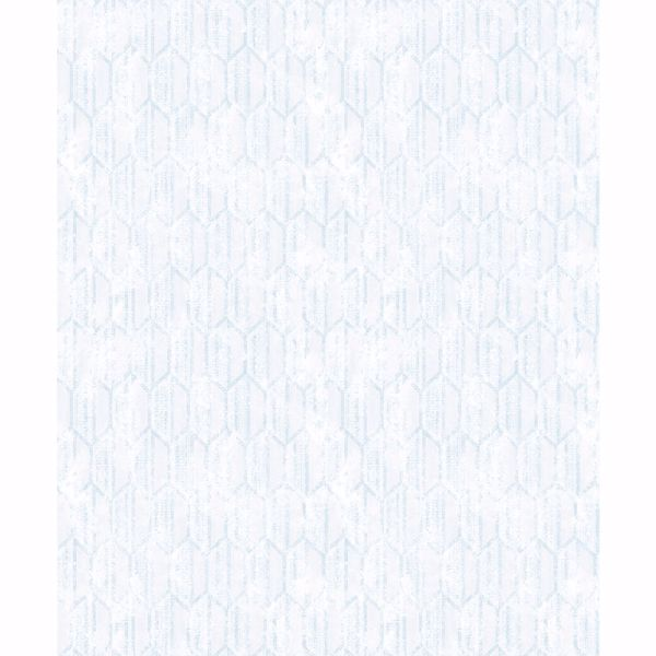 Picture of Kendall Teal Honeycomb Geometric Wallpaper