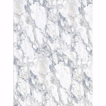Picture of Carson White Marble Wallpaper