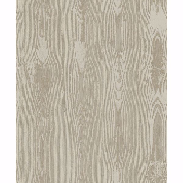 Picture of Jaxson Light Brown Faux Wood Wallpaper