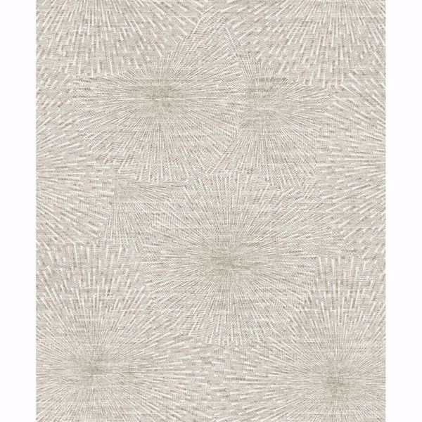 Picture of Zion Taupe Starburst Wallpaper