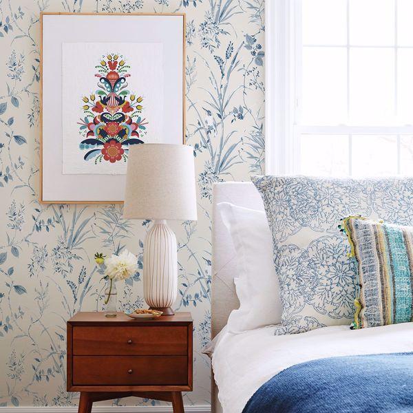 Picture of Mariko Blue Botanical Wallpaper