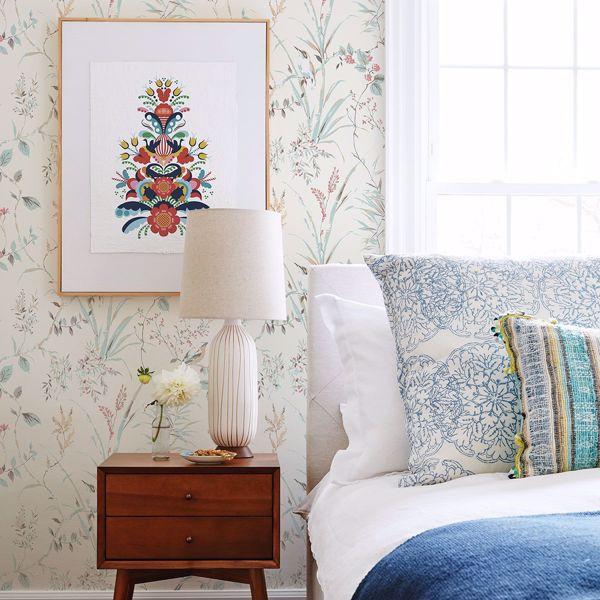 Picture of Mariko Cream Botanical Wallpaper