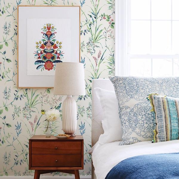 Picture of Mariko Green Botanical Wallpaper