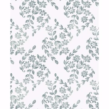 Picture of Teal Pomfret Peel and Stick Wallpaper