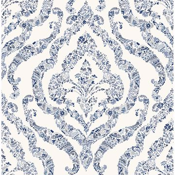 Picture of Blue Guildford Peel and Stick Wallpaper