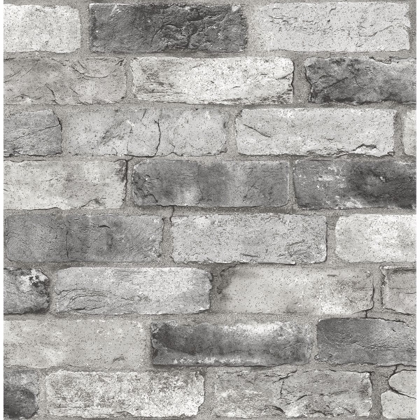 Picture of Grey London Brick Peel and Stick Wallpaper