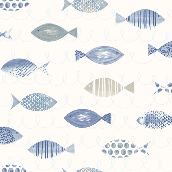 Picture of Key West Blue Sea Fish Wallpaper
