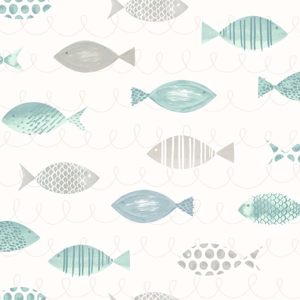 Picture of Key West Teal Sea Fish Wallpaper