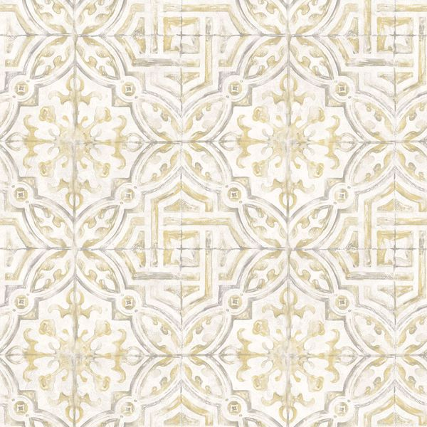 Picture of Sonoma Yellow Beach Tile Wallpaper