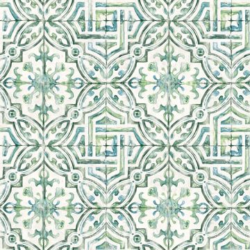 Picture of Sonoma Green Beach Tile Wallpaper
