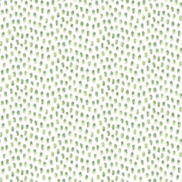 Picture of Sand Drips Green Painted Dots Wallpaper