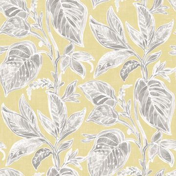Picture of Mangrove Yellow Botanical Wallpaper