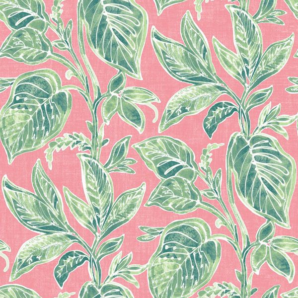 Picture of Mangrove Pink Botanical Wallpaper