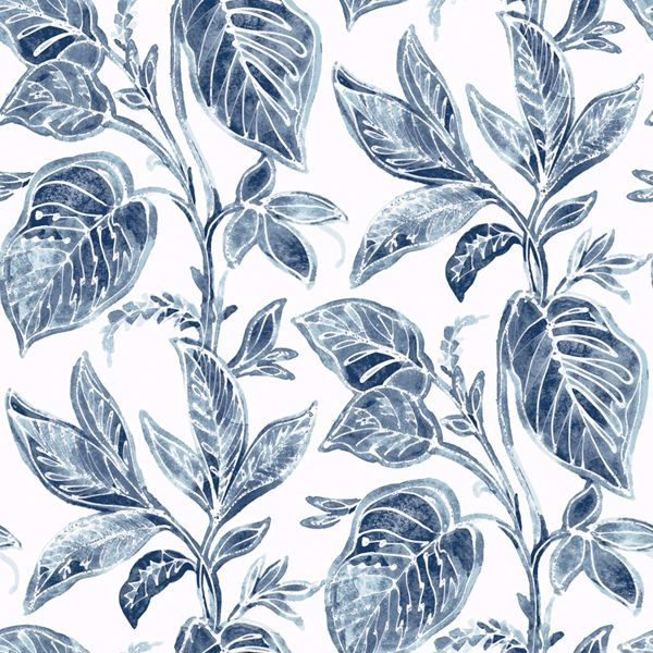 Picture of Mangrove Blue Botanical Wallpaper