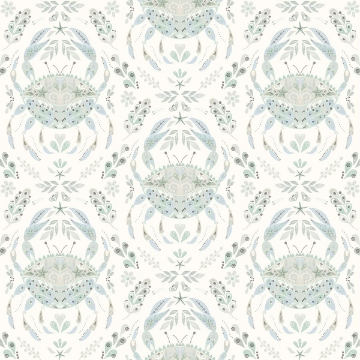 Picture of Annapolis Teal Crustacean Wallpaper