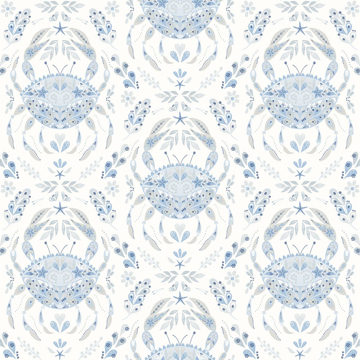 Picture of Annapolis Light Blue Crustacean Wallpaper