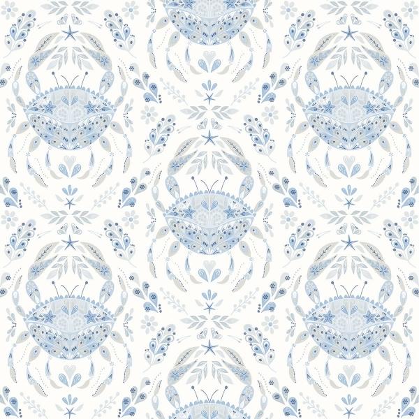 Picture of Annapolis Light Blue Crustacean Wallpaper