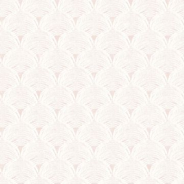 Picture of Santiago Coral Scalloped Wallpaper