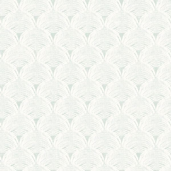 Picture of Santiago Teal Scalloped Wallpaper