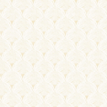 Picture of Santiago Yellow Scalloped Wallpaper
