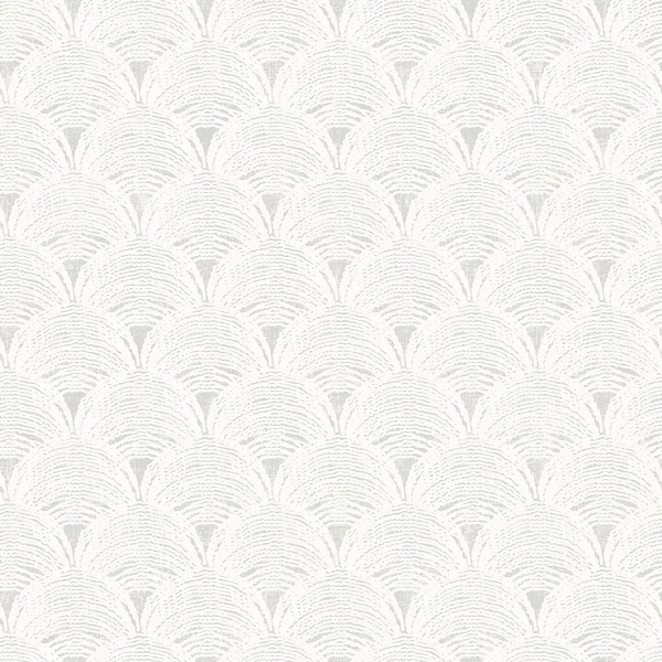 Picture of Santiago Grey Scalloped Wallpaper