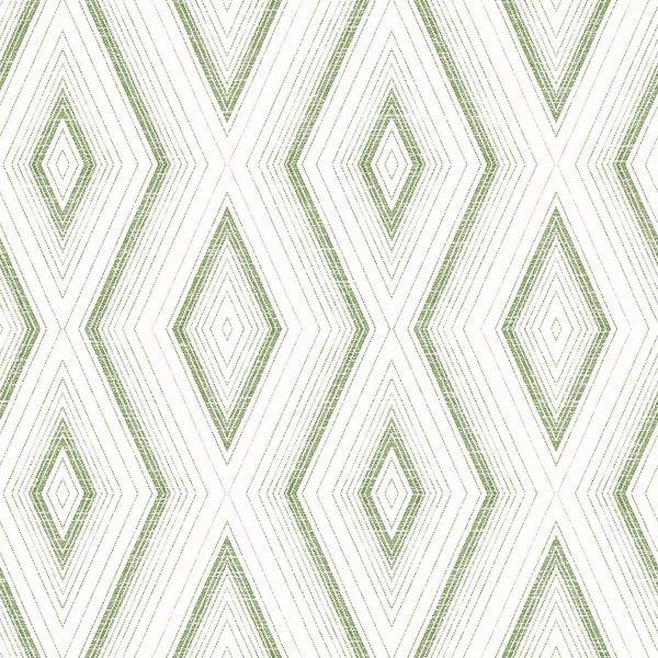 Picture of Santa Cruz Green Geometric Wallpaper