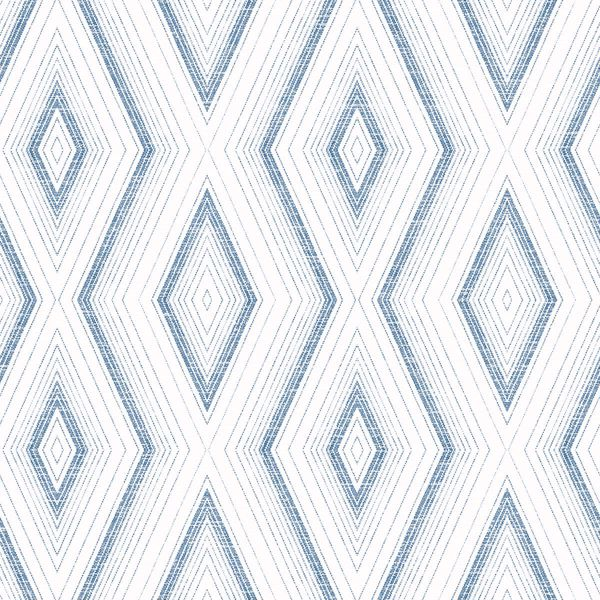 Picture of Santa Cruz Blue Geometric Wallpaper
