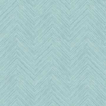 Picture of Caladesi Aqua Faux Linen Wallpaper