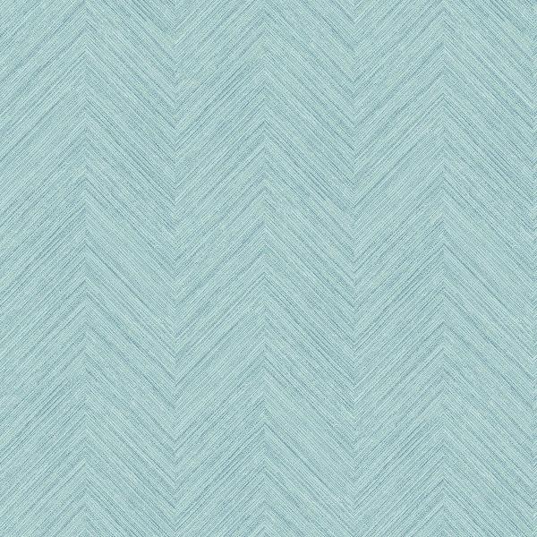 Picture of Caladesi Aqua Faux Linen Wallpaper