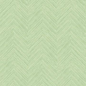 Picture of Caladesi Green Faux Linen Wallpaper