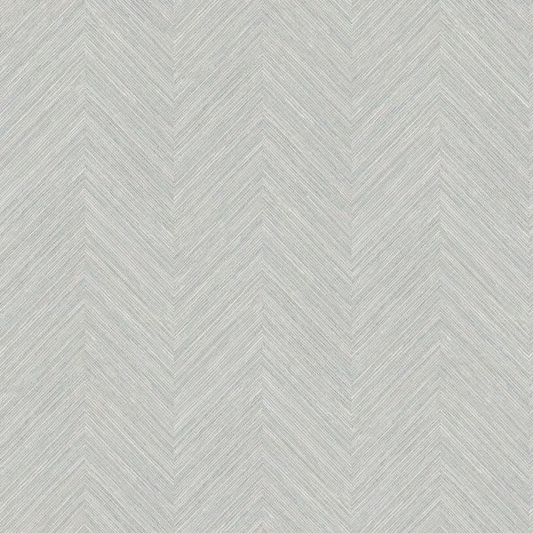 Picture of Caladesi Grey Faux Linen Wallpaper
