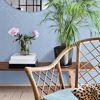 Picture of Caladesi Light Blue Faux Linen Wallpaper