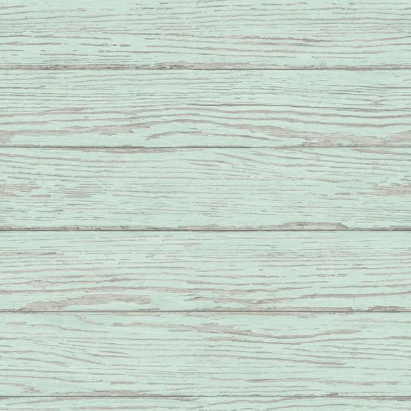 Picture of Rehoboth Mint Distressed Wood Wallpaper