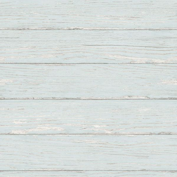 Picture of Rehoboth Aqua Distressed Wood Wallpaper