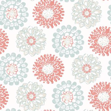 Picture of Sunkissed Coral Floral Wallpaper