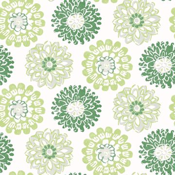 Picture of Sunkissed Green Floral Wallpaper