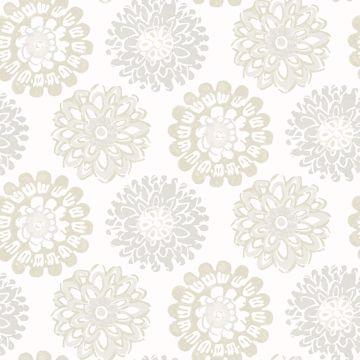 Picture of Sunkissed Light Grey Floral Wallpaper