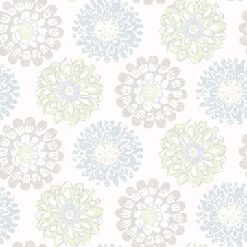 Picture of Sunkissed Light Green Floral Wallpaper