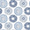 Picture of Sunkissed Blue Floral Wallpaper