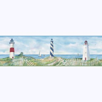 Picture of Eugene Blue Lighthouse Border