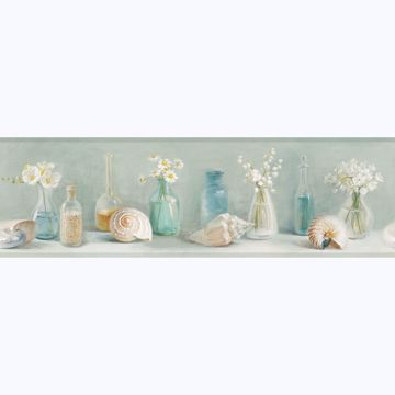 Picture of Cahoon Teal Vases Border
