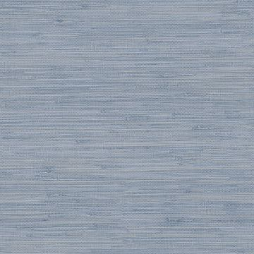 Picture of Waverly Blue Faux Grasscloth Wallpaper