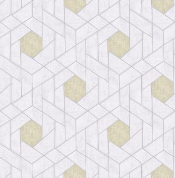 Picture of Granada Silver Geometric Wallpaper- Scott Living