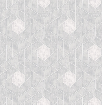 Picture of Granada Light Grey Geometric Wallpaper- Scott Living
