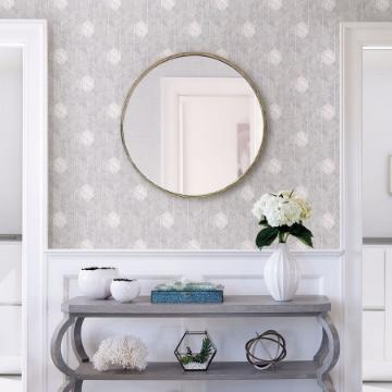 Picture of Granada Light Grey Geometric Wallpaper- Scott Living