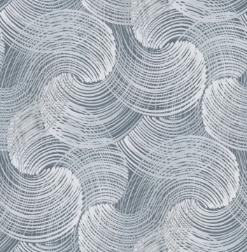 Picture of Karson Blue Swirling Geometric Wallpaper- Scott Living