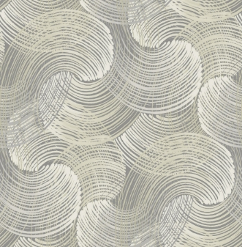 Picture of Karson Grey Swirling Geometric Wallpaper- Scott Living