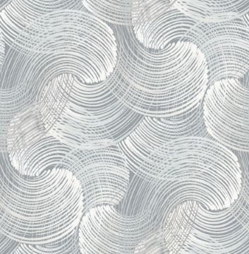 Picture of Karson Slate Swirling Geometric Wallpaper- Scott Living