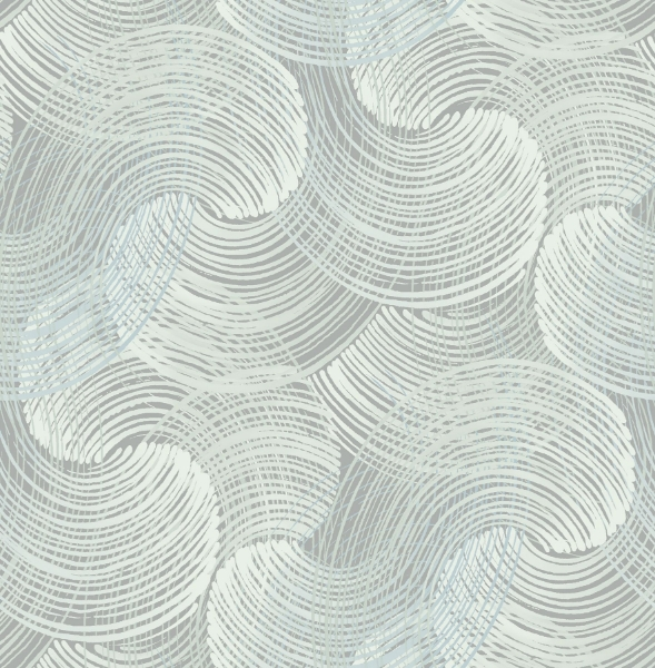 Picture of Karson Teal Swirling Geometric Wallpaper- Scott Living