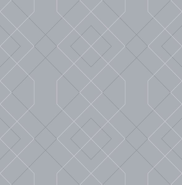 Picture of Ballard Pewter Geometric Wallpaper- Scott Living